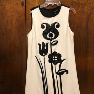Victoria Beckham Mod Shift Tulip Appliqué Dress